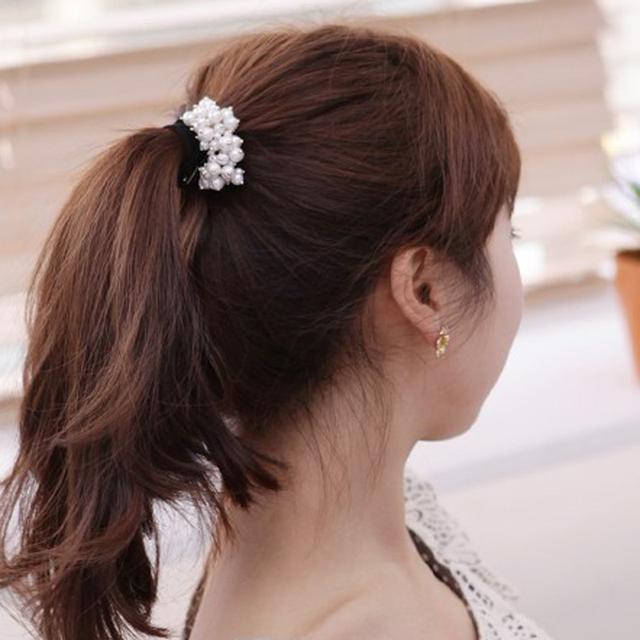 Pearl Elastic Rubber Hair Band