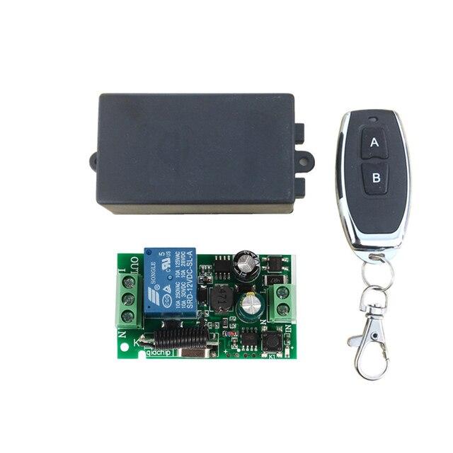 QIACHIP 433 Mhz evrensel kablosuz uzaktan kumanda anahtarı AC 85V 110V 220V 1CH röle alıcı modülü ve RF 433 Mhz uzaktan kumanda