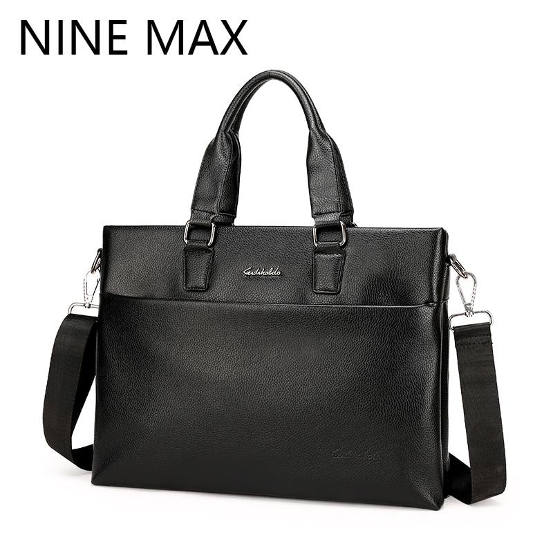 ФОТО Polo Men Fashion Casual Handbag Business PU Leather Sling Shoulder Bag Crossbody Messenger Bag Leisure Laptop Hand Bag For Male