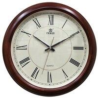 POWER Brand New Circular Large Wall Clock Simple Wood Horloge Murale Reloj De Pared Klok Silent Home Decor Metal Pointer Clocks