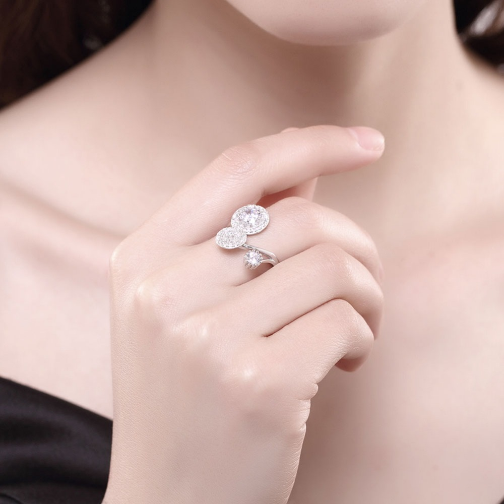 MEGREZEN Engagement Rings Sterling Silver Wedding Decoration Anillos ...