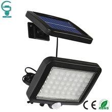 56 светодиодный настенный светильник на солнечной батарее с датчиком движения, водонепроницаемый светильник с инфракрасным датчиком, садовый светильник