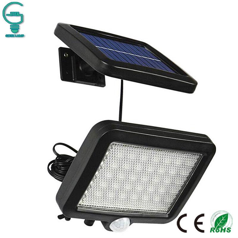 56 LED al aire libre luz de pared Solar PIR Sensor de movimiento lámpara Solar Sensor infrarrojo impermeable Luz de jardín