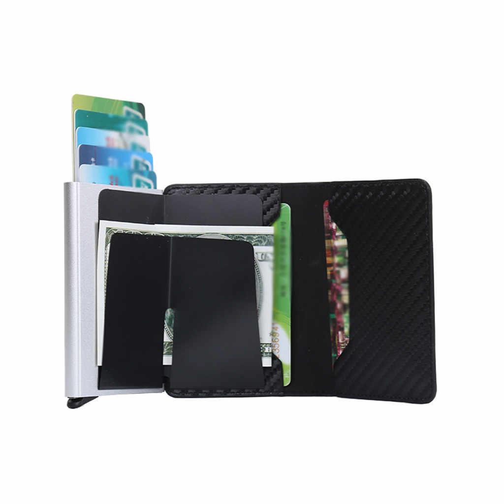 Женская Мужская сумка высокого качества нейтральная крокодиловая змеиная кожа углеродное волокно бизнес посылка porta tarjeta Кредитная карта кошелек путешествия
