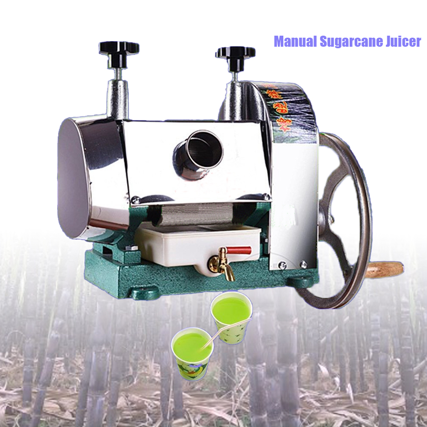 Stainless Steel Manual Sugarcane Juicer Machine/sugar cane juice machine/sugar cane crusher machine/sugar cane extractor 50KG/H все цены