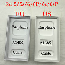 1Pcs High Quality US/EU/UK Version Phone Packaging Box For iPhone 5/5S/SE/6/6P/6s/6sP phone Box With Full Accessories print IMEI(China)