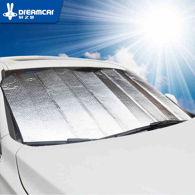 Universal Reflective Car Aluminum foil Windscreen Sunshade Front Window Sun  Shade Windshield Visor Cover UV Protect 548706fcc56