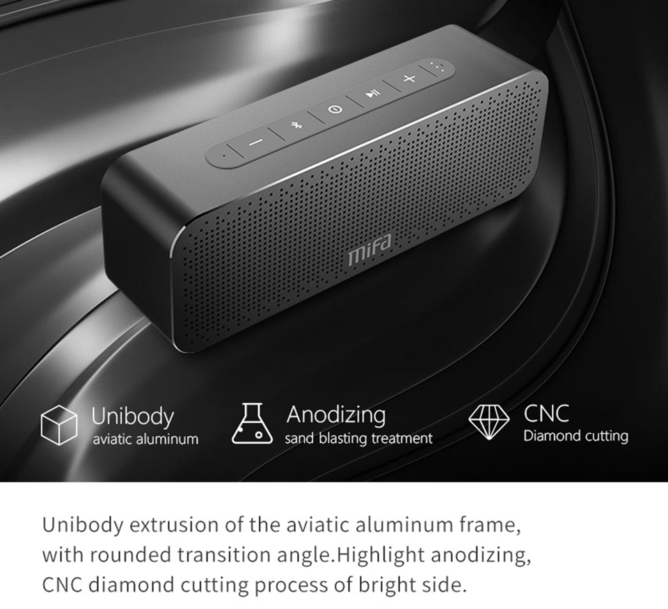 MIFA A20 Wireless Portable Metal Bluetooth Speaker With Handfree TWS Water-proof IPX4 30W Speaker Power With Bass Speaker