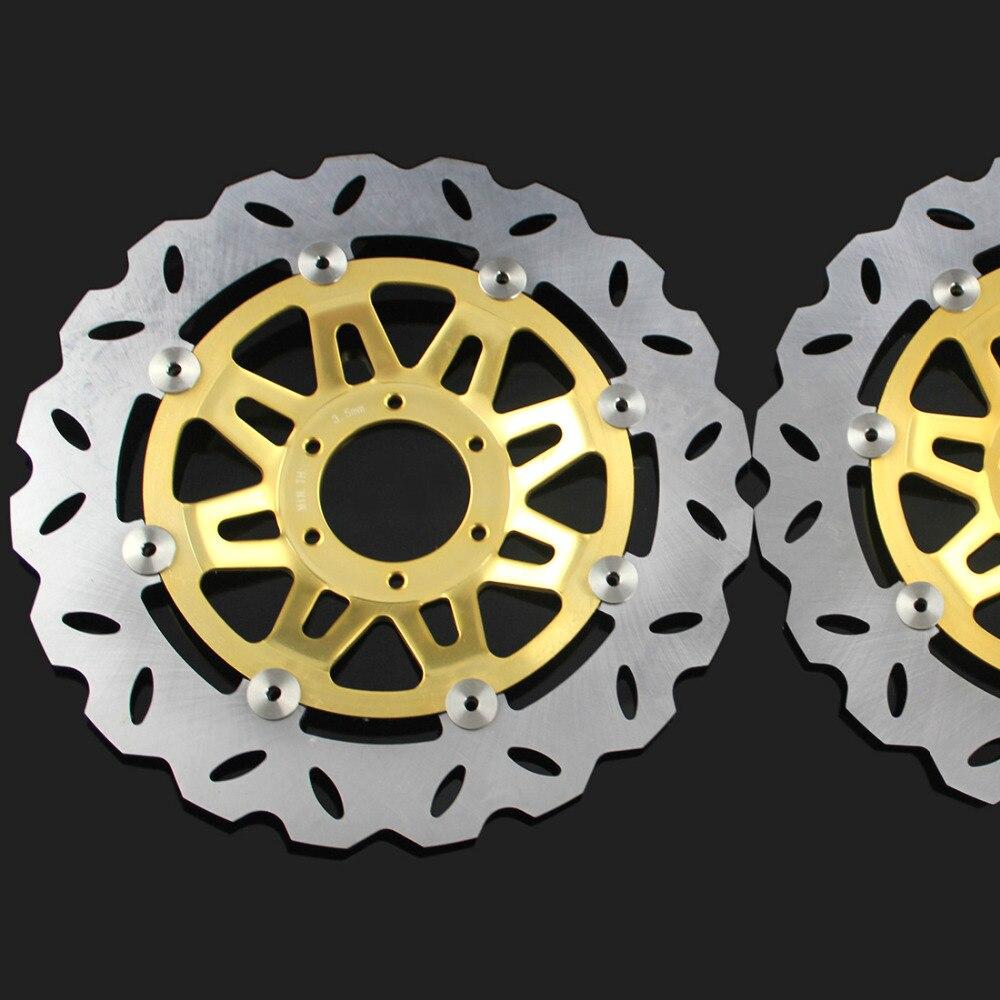 2 шт. мотоцикл передние дисковые тормоза ротора Скутер передние задние дисковые тормоза Ротор для Honda cb400 и VTEC400 1999 2010