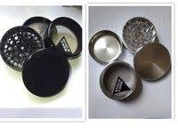 Üst Marka Şerit/Siyah Alüminyum 63mm Uzay durumda Değirmeni için CNC metal tütün herb öğütücü sigara ot VS SharpStone