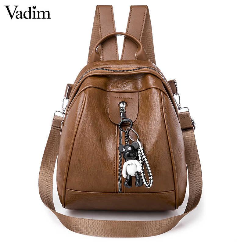 Vadim Mutifunction skórzana torba kobiety mały plecak