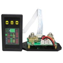 Hot-Dc 120V Lcd Combo Meter Spanning Kwh Watt Meter 12V 24V 48V 96V Batterij Capaciteit Power Monitoring(China)