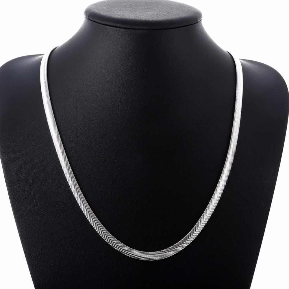 1 pièce 16-24 pouces Nice 925 argent Sterling lisse serpent homme collier chaîne avec homard fermoirs ensemble bijoux lourds
