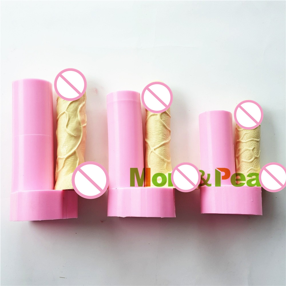 Mom&Pea 1049-51 Penis Shaped Silicone Mold Temperament And Interest Cake Decoration Fondant Cake 3D Mold Food Grade