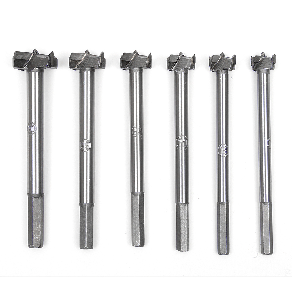Auger Drilling Hole Saw Cutting Woodworking Kit Opener Triangular Hole Saw Set Drill Bit Wooden Wood Cutter with Round Shank mx diamond dry drill bit hole hammer drill hood air conditioning concrete wall perforator drilling hole opener drill bit tools