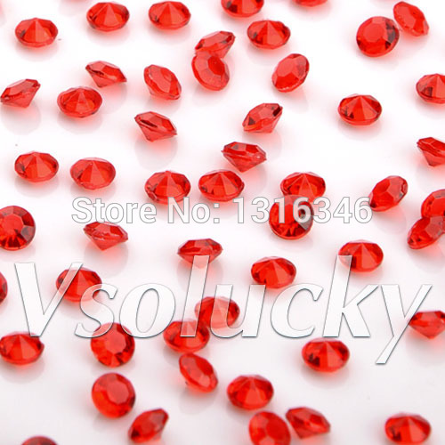 Party Diy Decorations Disciplined Diamond Confetti Red 10000 Pcs/bag 4.5mm 1/3carat Crystal Wedding Table Scatter Decoration Bridal Shower Wedding Party Dependable Performance
