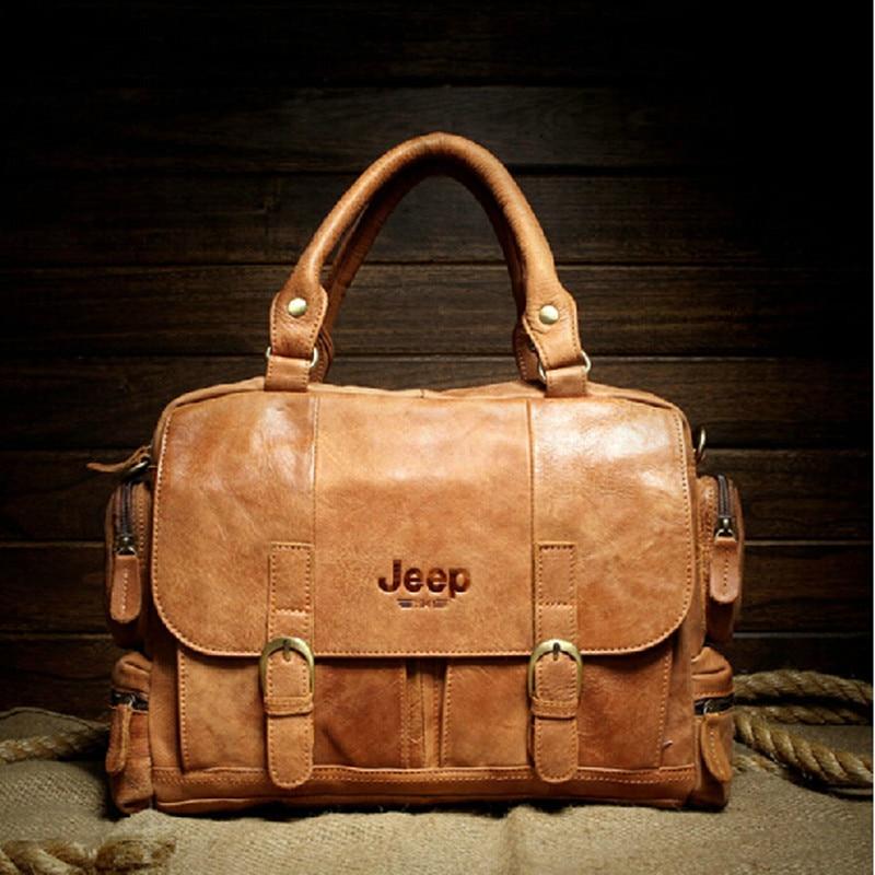 Famous Brand 100% Real Natural Genuine Leather bag men handbag Vintage men's travel bags Fashion men shoulder messenger bags