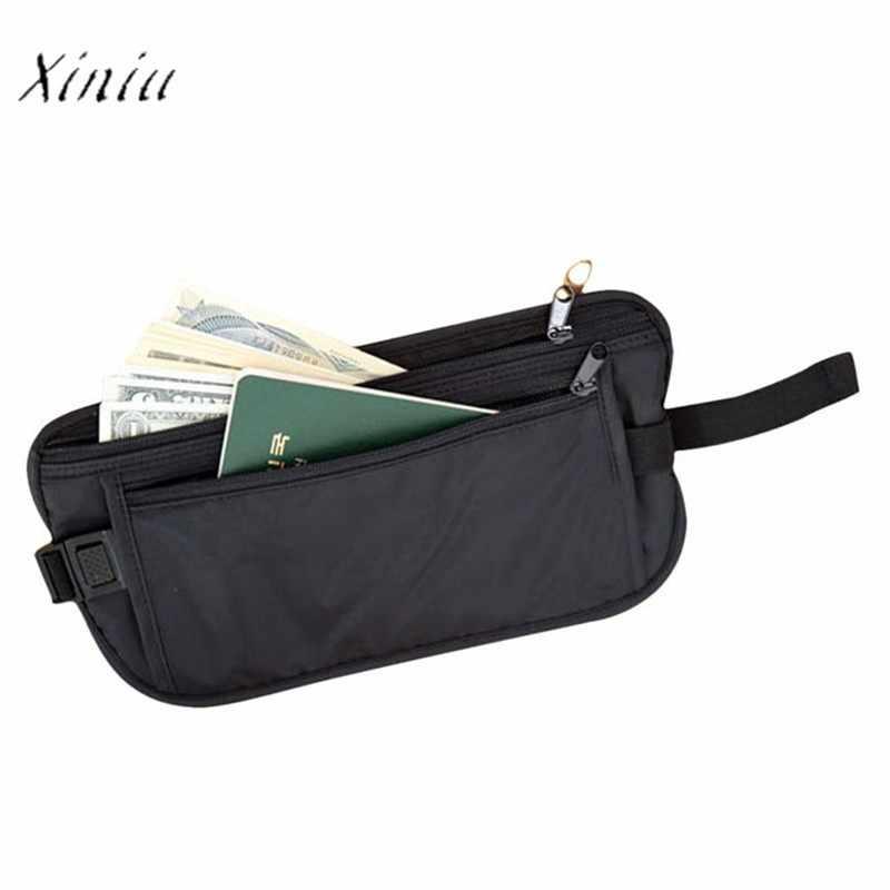 セキュリティバッグ中立ソリッドカラーの財布カジュアル旅行収納ジッパーウエストバッグ marsupio ドナ
