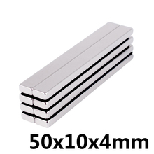 2pcs Neodymium magnet 50x10x4 mm N35 Small Square power Strong magnets 50*10*4mm Rare Earth Magnets 50x10x4m