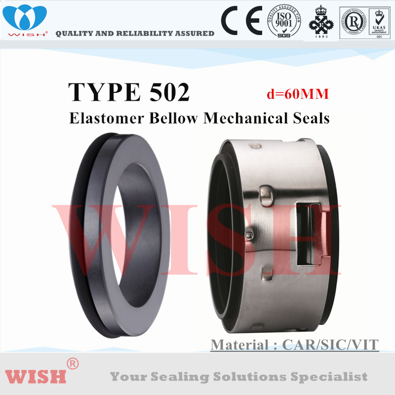 60MM  Equal to Johncrane Type 502 with BO stationary seat material Car/Sic/Viton pump mechanical seal60MM  Equal to Johncrane Type 502 with BO stationary seat material Car/Sic/Viton pump mechanical seal