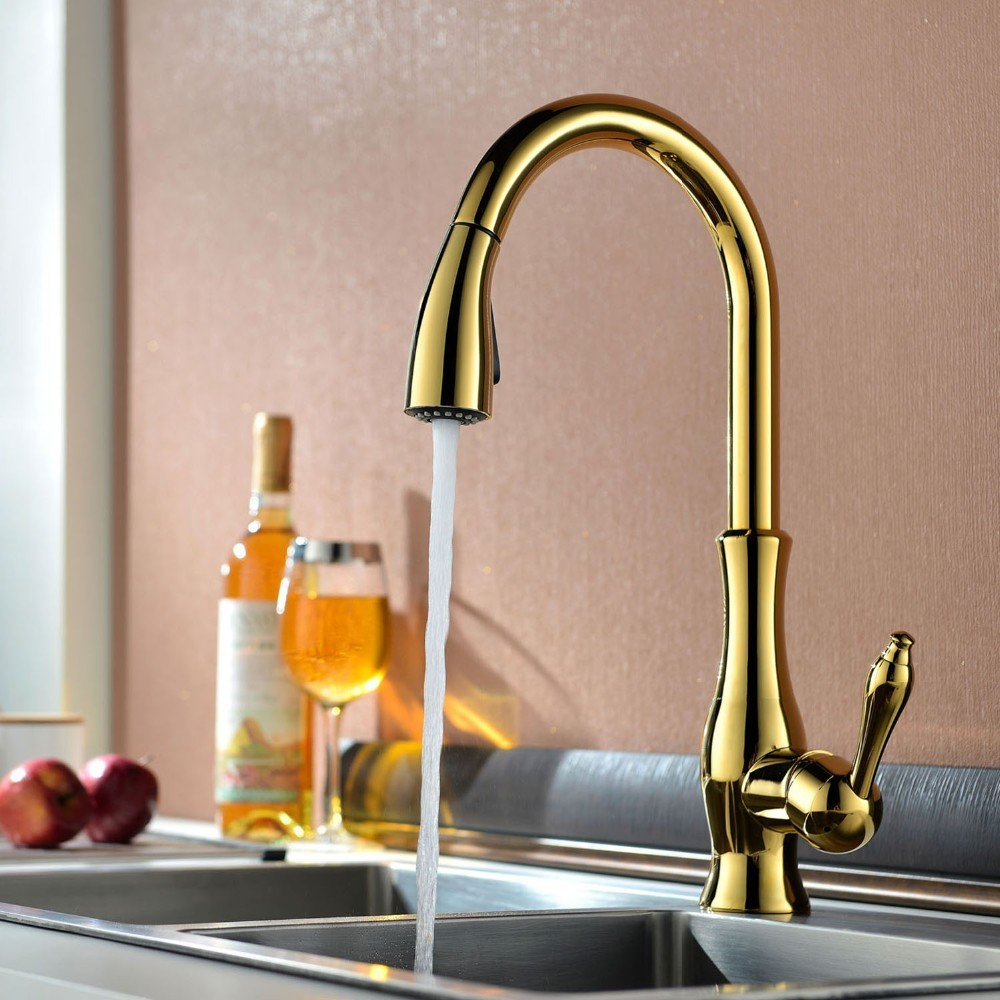 Pull Out Sprayer Kitchen Faucet (4)