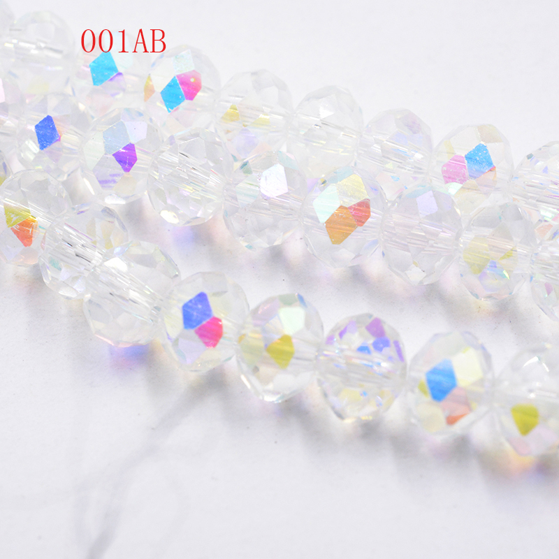 Unequal In Performance Collection Here Aaa Top Quality Crystal Clear Ab Color Loose Crystal Glass Rondelle Beads.2mm 3mm 4mm,6mm,8mm 10mm,12mm Free Shipping Jewelry & Accessories