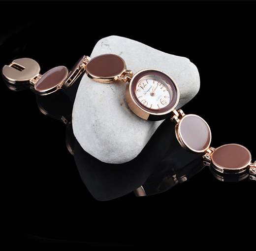 Kvinnor Klockor Mode Casual Dam Klocka Runda Dial Armband Kvinnor - Damklockor - Foto 5
