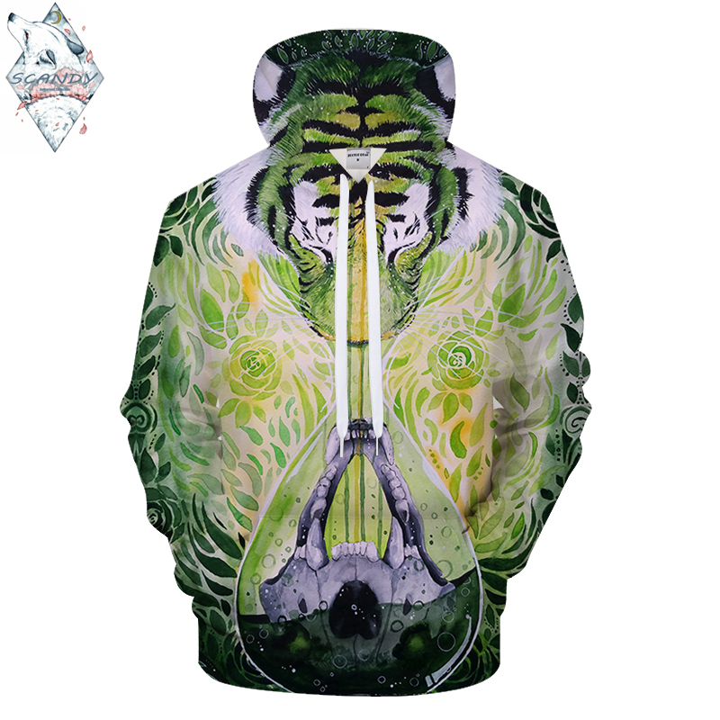 DissolveinTime By Scandy Girl Arts Animal 3D Print Hoodies Men Women Sweatshirt Brand Tracksuit Pullover Jacket Hooded Coat Drop