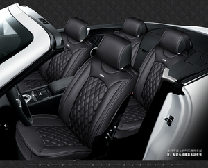 Image 3 - 5 seats Car Seat Cover Sports Styling,Senior Leather, Whole Surrounded Car Seat cushion,car  Interior Accessories