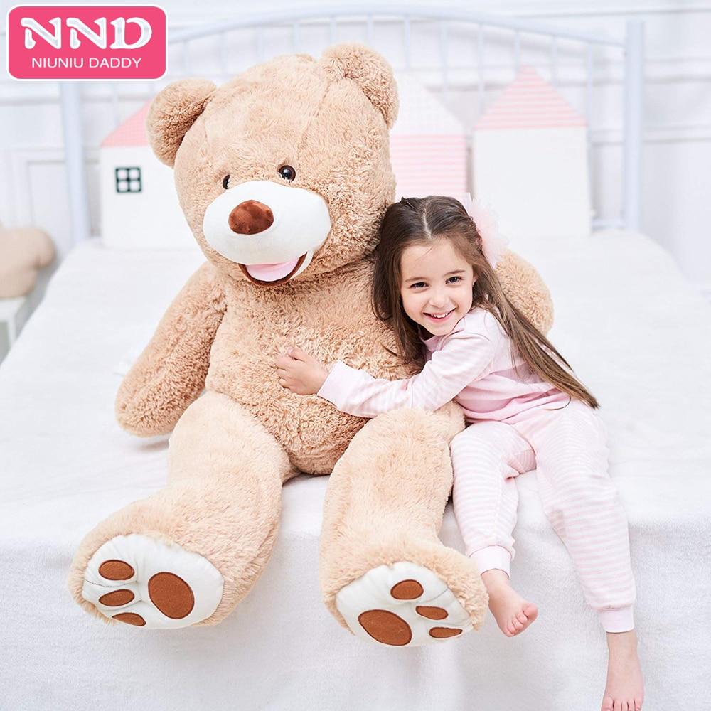 Niuniu Daddy 80 cm a 260 cm Piel de oso de peluche gigante Ustuffed American Bear Peluche Juguete de piel de oso de EE. UU. De EE. UU. Regalos sin piel