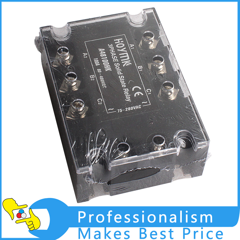 70-280V AC 3 Phase solid state relay 100A electronic switch 4 20ma to ac 28 280v 25a one phase 35mm din rail socket solid state relay