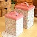 БЕСПЛАТНАЯ ДОСТАВКА железный ящик олова TB54 для 1 шт. розовый подарок коробка для zakka брелок и украшения дома и кухни хранения контейнер