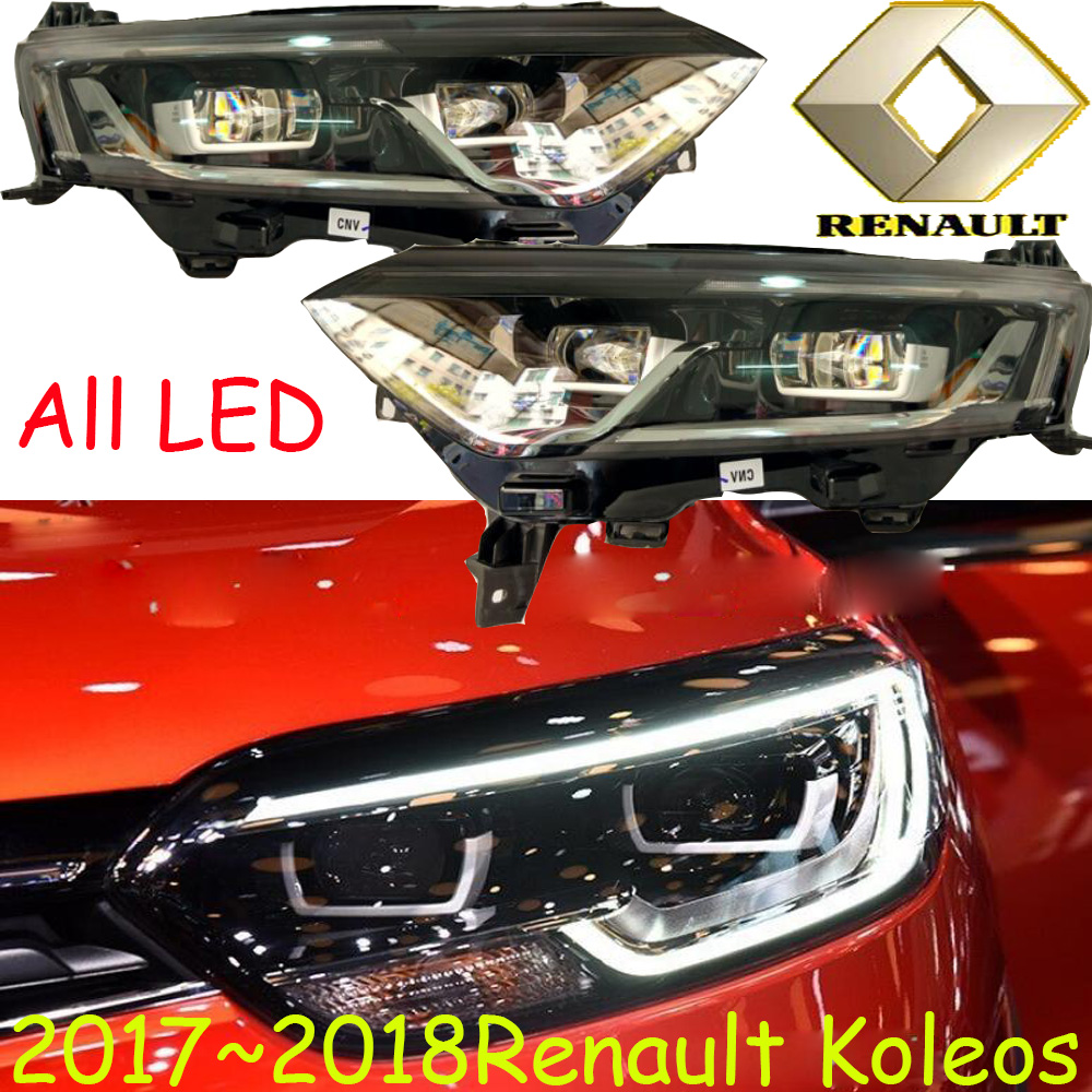 2017 2018 année, LED, Koleos phare, Libèrent le bateau! 6000 K, Kangoo, laguna, scenis, safrane, logan, Trafic, Koleos head light