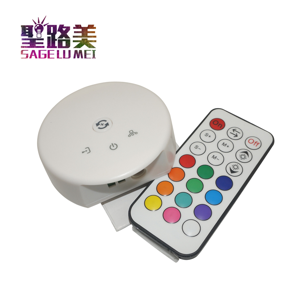 DC12V 24V Wifi LED RGB RGBW Controller Magic UFO Wifi Controller 21Key RF Remote Control For RGB RGBW Strips Tape iPhone Android dc5 24v wireless wifi led rgb controller rgbw controller ir rf remote control ios android for led strip rgb rgbw rgbww