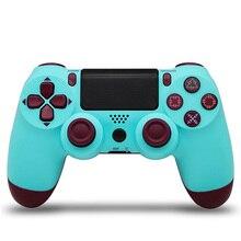 Version2 pour PS4 Pro Bluetooth contrôleur sans fil pour PlayStation 4 pour PS3 sans fil double choc Vibration manette Gamepads