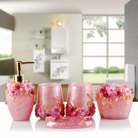 European dinner authentic bathroom set of five sets of European toilet wash sets of resin wedding factory direct sales