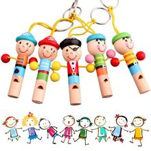 Mini Pirates Design Musical Instrument Baby Kids Wooden Whistle Toy For Kids New Years Gift Developmental Cute Mini Toys