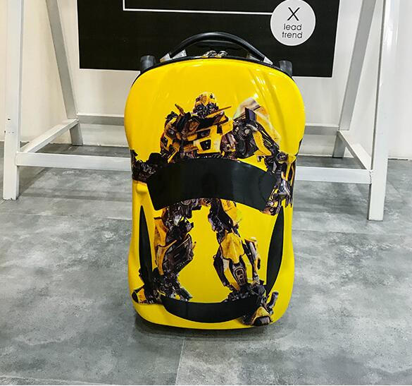 все цены на 2018 New Cartoon Rolling luggage 6D animals 18 inch children suitcase/ ABS PC travel trolley suitcase/ kid Wheeled Bag