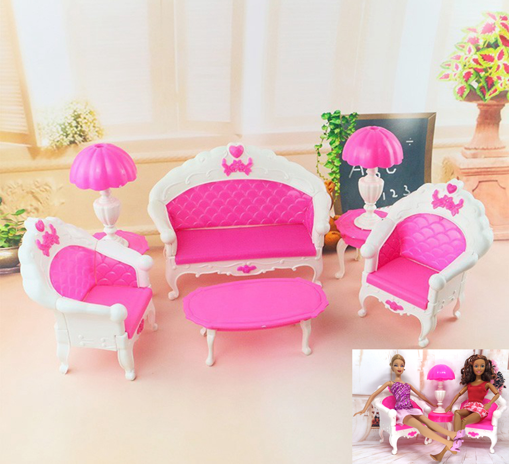 ᐅNK 6 artículos/set muñeca Accesorios plástico Muebles sofá lámpara ...