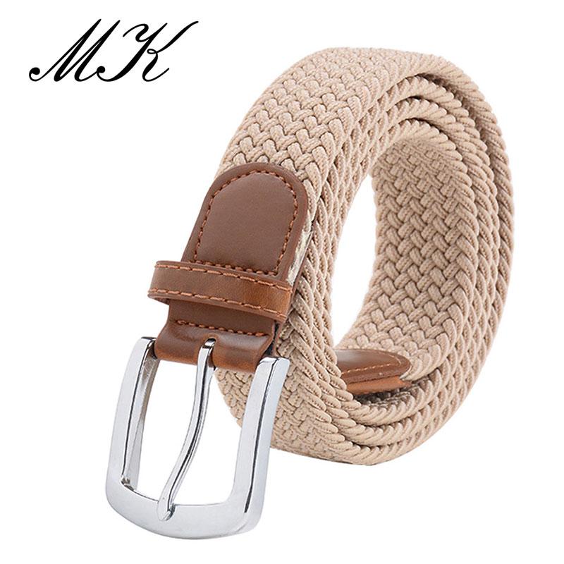MaiKun мужские ремни с металлической пряжкой булавки эластичный мужской ремень армейский тактический ремень для мужчин - Цвет: Khaki