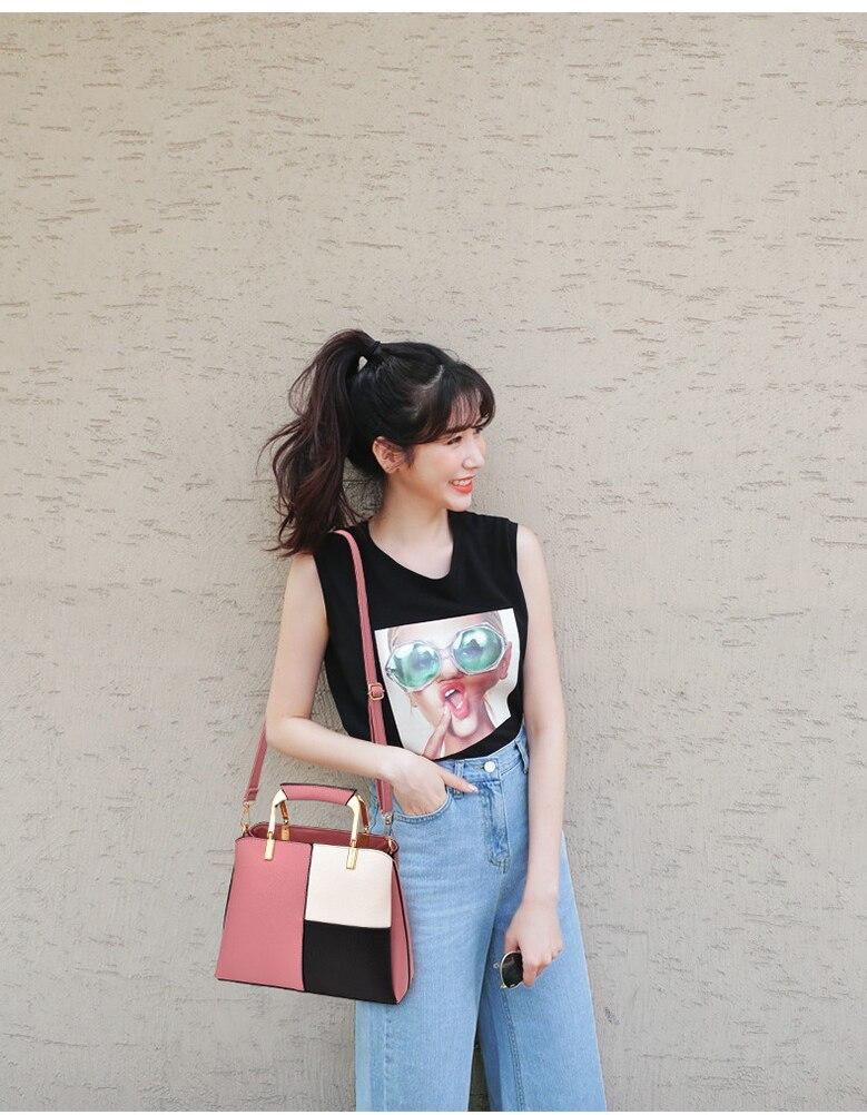 a menina verão retalhos saco feminino a726