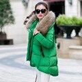 Jaqueta mulheres para baixo casaco de Algodão moda irregular Casaco Quente casaco de inverno mulheres parkas jaqueta de inverno Do Falso casaco de pele do inverno Feminino