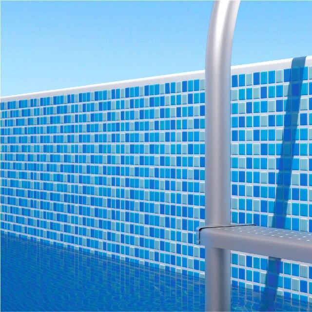 Piscina azul antideslizante azulejo mosaico de vidrio para - Azulejos para ducha ...