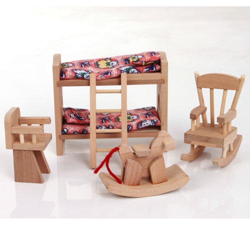 Girls Kids Childrens Wooden Nursery Bedroom Furniture Toy: W007 High Quality Children Gift Kids Wooden Toy Furniture