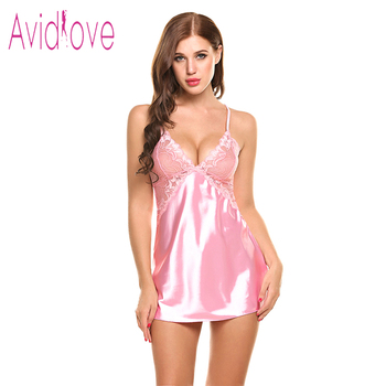 Sexy Nightgown Lingerie Fashion Nightdress Women 1