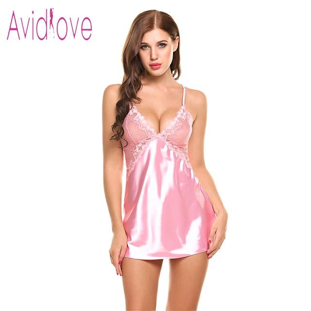 Sexy Nightgown Lingerie Fashion Nightdress Women 1