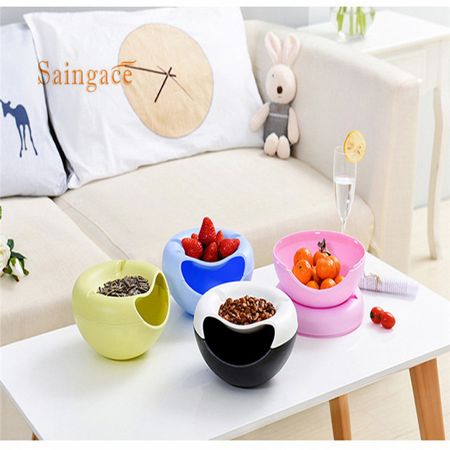 Creative Melon Seeds Nut Bowl Table Candy Snacks Dry Fruit Holder Storage Box Plate Dish Tray With Mobile Phone Stents #YH15