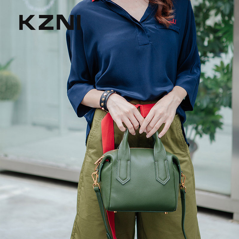 KZNI Leather Top-handle Cross Shoulder Bags for Girls Designer Handbags High Quality Fashion Handbags 2017 Sac a Main Femme 1407 kzni genuine leather handbag women designer handbags high quality phone bag purses and handbags pochette sac a main femme 9022