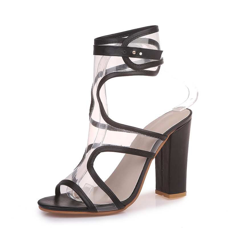 Carole Levy 2019 The New Woman Summer Shoes PVC Clear Sexy Mental Sense Height-heeled Shoes Open Toe Party Elegant SandalsCarole Levy 2019 The New Woman Summer Shoes PVC Clear Sexy Mental Sense Height-heeled Shoes Open Toe Party Elegant Sandals