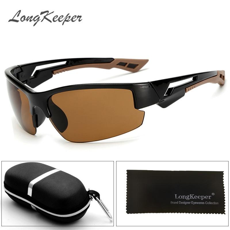 LongKeeper 2017 Men's Sunglasses Aluminum Magnesium Frame Car Driving Sun Glasses 100% UV400 Goggle Style Eyewear With Box